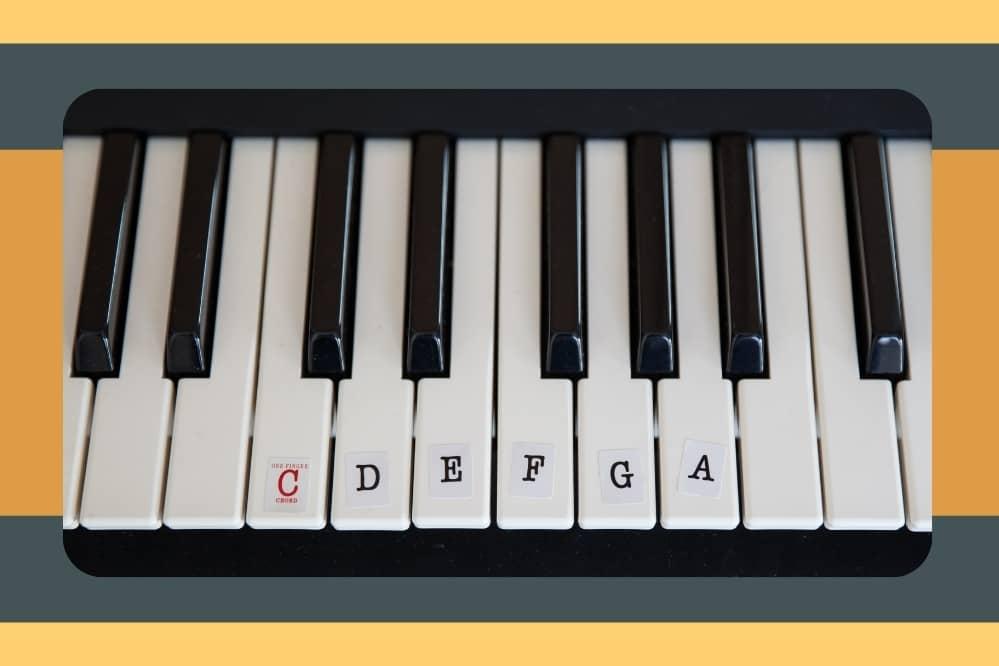 label piano keys